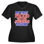 Proud to be American Women's Plus Size V-Neck Dark