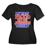 Proud to be American Women's Plus Size Scoop Neck