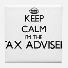 Keep calm I'm the Tax Adviser Tile Coaster