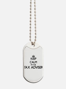 Keep calm I'm the Tax Adviser Dog Tags