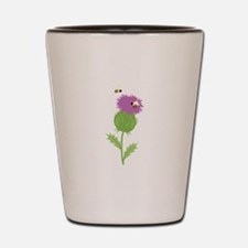 Thistle Bees Shot Glass