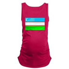 Uzbekistan Flag Maternity Tank Top