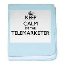Keep calm I'm the Telemarketer baby blanket