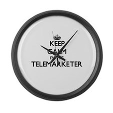 Keep calm I'm the Telemarketer Large Wall Clock