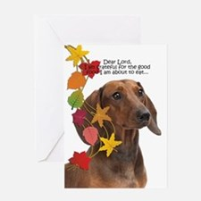 Dachshund Thanksgiving Greeting Cards