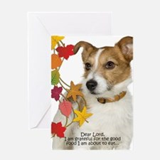 Funny Jack Russell Thanksgiving Greeting Cards