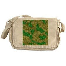 Woodcut Bubbles Gold Messenger Bag