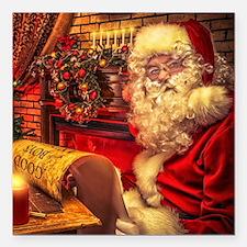 """Santa Claus 4 Square Car Magnet 3"""" x 3"""""""