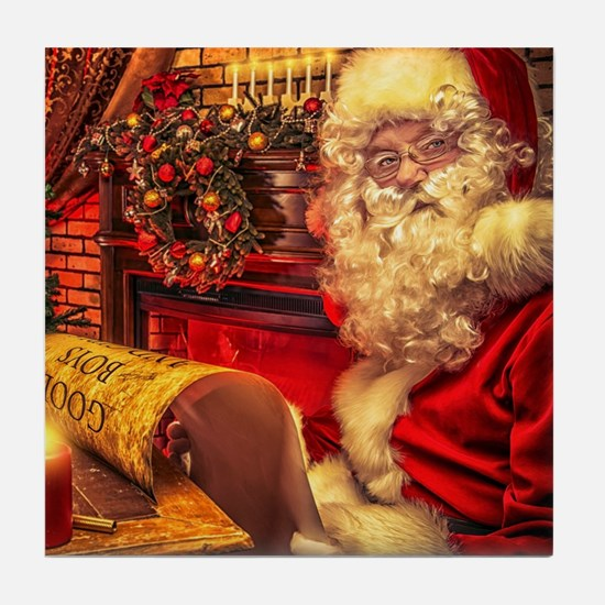 Santa Claus 4 Tile Coaster