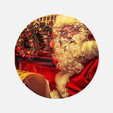 """Santa Claus 4 3.5"""" Button (100 pack)"""