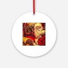Santa Claus 4 Ornament (Round)