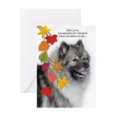 Funny Keeshond Thanksgiving Greeting Cards