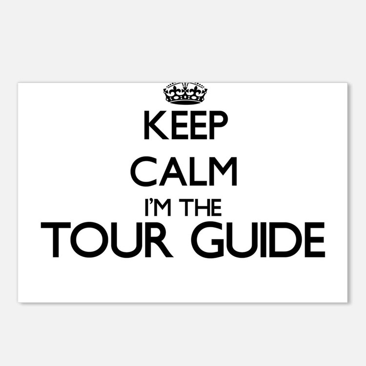 Keep calm I'm the Tour Gu Postcards (Package of 8)