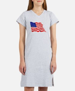 United States Flag Women's Nightshirt