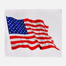 United States Flag Throw Blanket