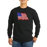 American flag Long Sleeve T-shirts (Dark)