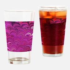 Purple Wave Drinking Glass