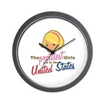 Prettiest Girls In United States Wall Clock
