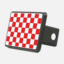 RED AND WHITE Checkered Pattern Hitch Cover