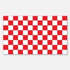 RED AND WHITE Checkered Pattern Decal