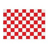 Red and white checkered 5x7 Rugs