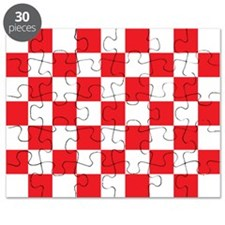 RED AND WHITE Checkered Pattern Puzzle