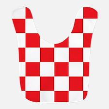 RED AND WHITE Checkered Pattern Bib