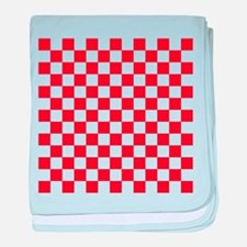 RED AND WHITE Checkered Pattern baby blanket