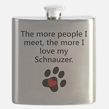 The More I Love My Schnauzer Flask