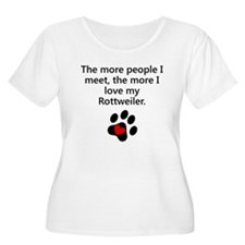 The More I Love My Rottweiler Plus Size T-Shirt