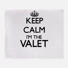 Keep calm I'm the Valet Throw Blanket