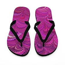 Purple Wave Flip Flops