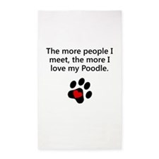 The More I Love My Poodle 3'x5' Area Rug