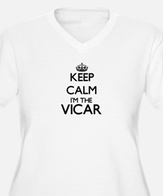 Keep calm I'm the Vicar Plus Size T-Shirt