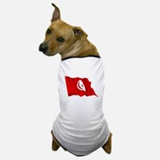 Tunisia Flag Dog T-Shirt