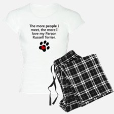 The More I Love My Parson Russell Terrier Pajamas