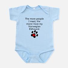 The More I Love My Norwegian Elkhound Body Suit