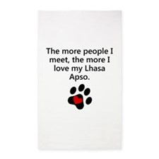 The More I Love My Lhasa Apso 3'x5' Area Rug
