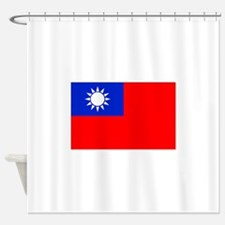 Taiwan Flag Shower Curtain