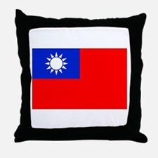Taiwan Flag Throw Pillow
