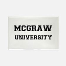 MCGRAW UNIVERSITY Rectangle Magnet