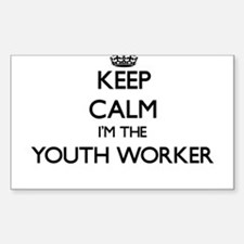 Keep calm I'm the Youth Worker Decal