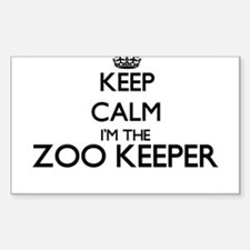 Keep calm I'm the Zoo Keeper Decal