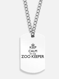 Keep calm I'm the Zoo Keeper Dog Tags