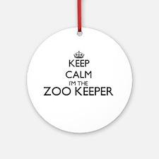 Keep calm I'm the Zoo Keeper Ornament (Round)