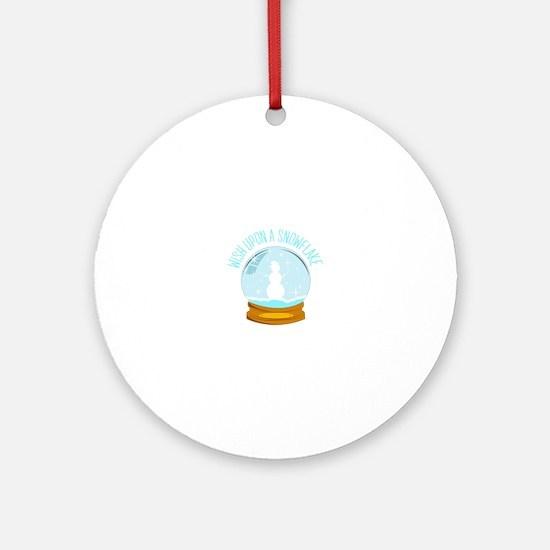 A Snowflake Ornament (Round)