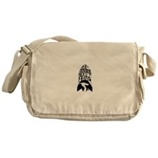 The Dragon's Rocketship 1960s Era Messenger Bag