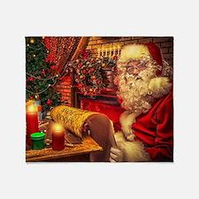 Santa Claus 4 Throw Blanket