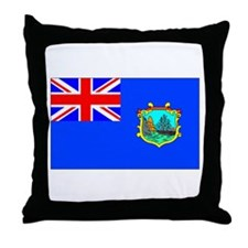 Old St Helena Flag Throw Pillow