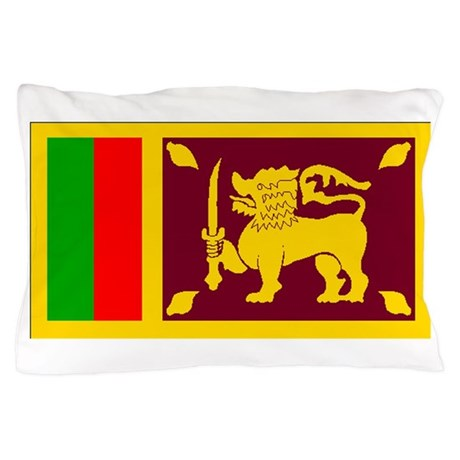 Sri lanka flag pillow case by worldflaggifts for Sri lanka flag coloring page